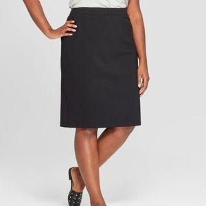 NWT Ava & Viv Ponte Midi Pencil Skirt